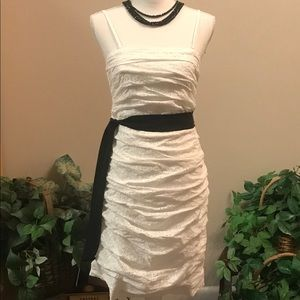 Express White Eyelet Dress